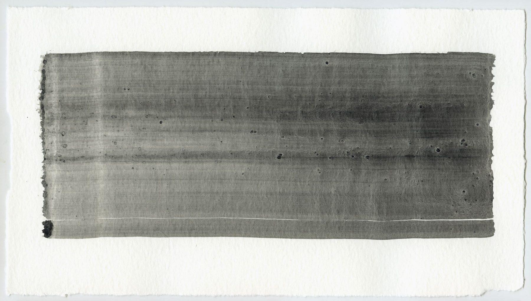 Brush stroke no. 80 - Selfmade pigment: Slingerpad zwart