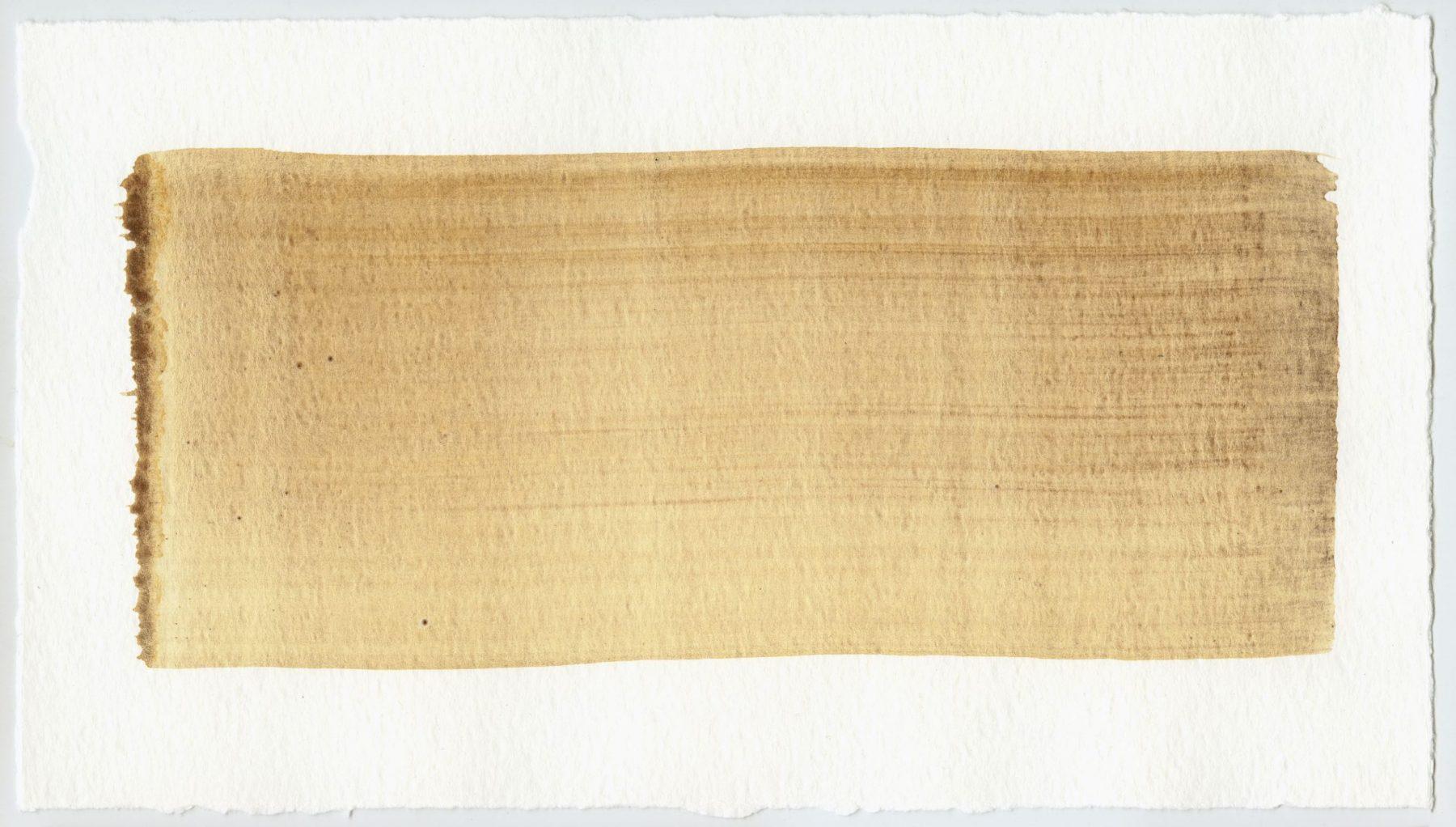 Brush stroke no. 81 - Selfmade pigment: IJzeroer