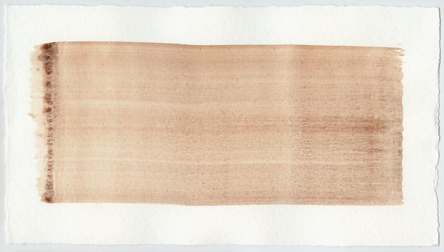 Brush stroke no. 84 - Selfmade pigment: IJzeroer gebrand