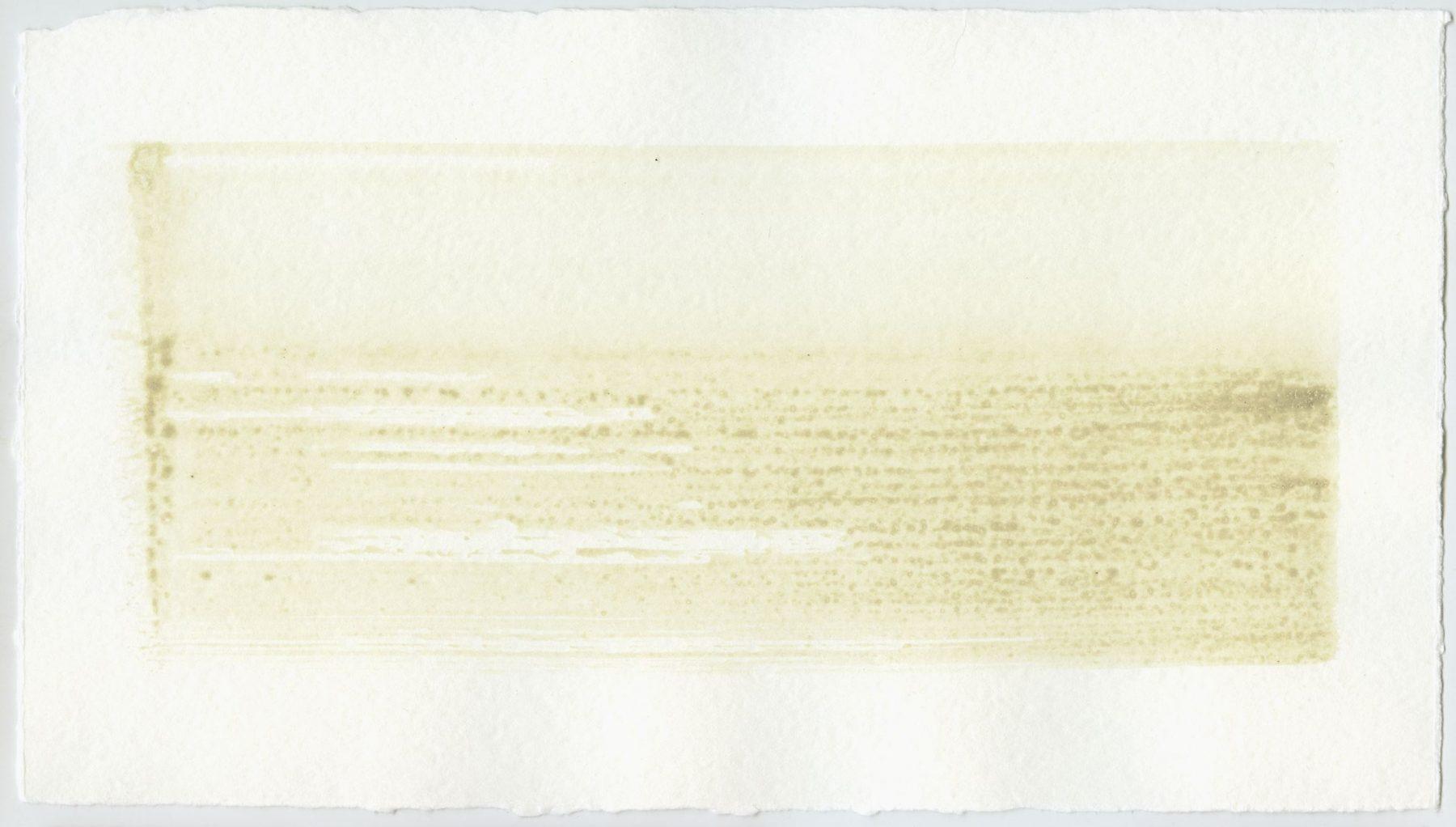 Brush stroke no. 85 - Selfmade pigment: Slabroek grijs