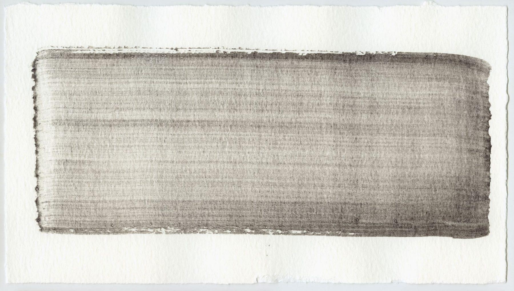 Brush stroke no. 88 - Selfmade pigment: Mortel paarsgrijs middel