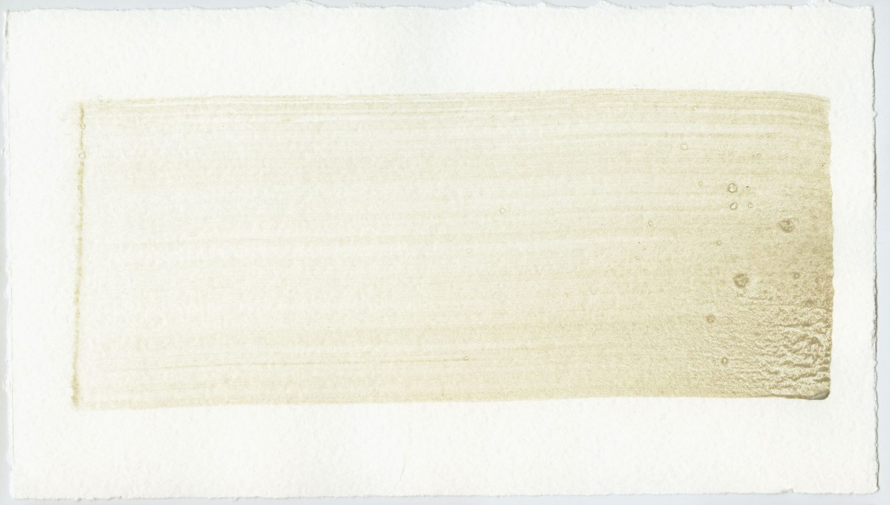 Brush stroke no. 95 - Selfmade pigment: Perekker grijs gebrand