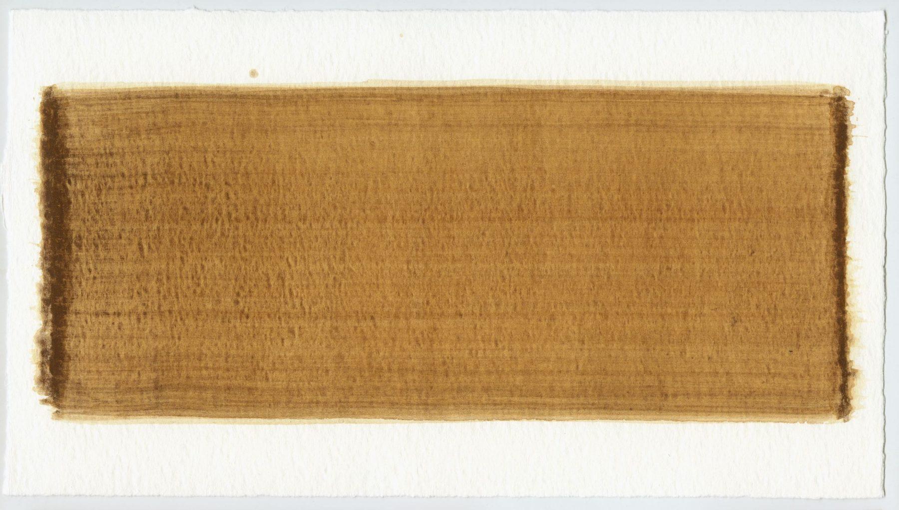 Brush stroke no. 96 - Selfmade pigment: IJzeroer