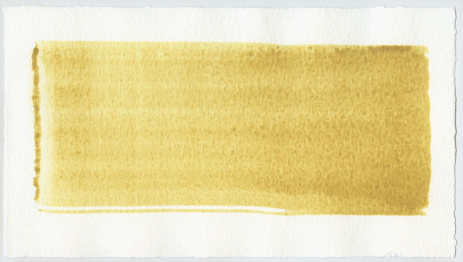 Brush stroke no. 97 - SOLD - Selfmade pigment: Mortelse oker
