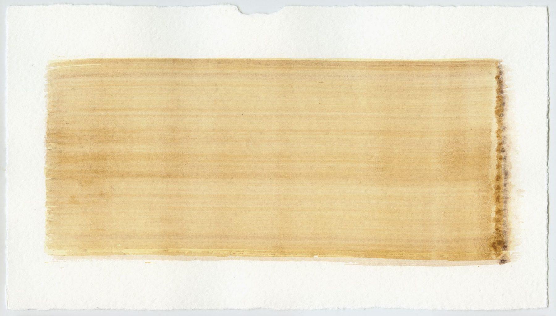 Brush stroke no. 100 - Selfmade pigment: IJzeroer gebrand, IJzeroer