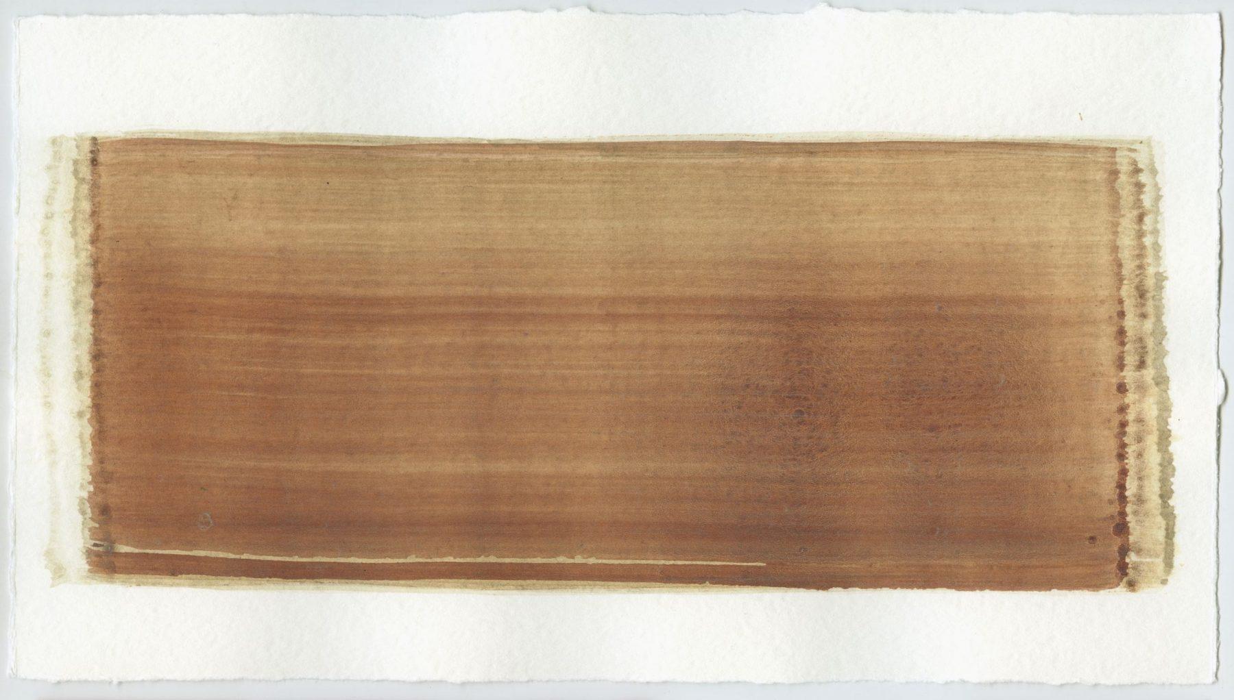 Brush stroke no. 103 - Selfmade pigment: IJzeroer gebrand, Perekker grijs