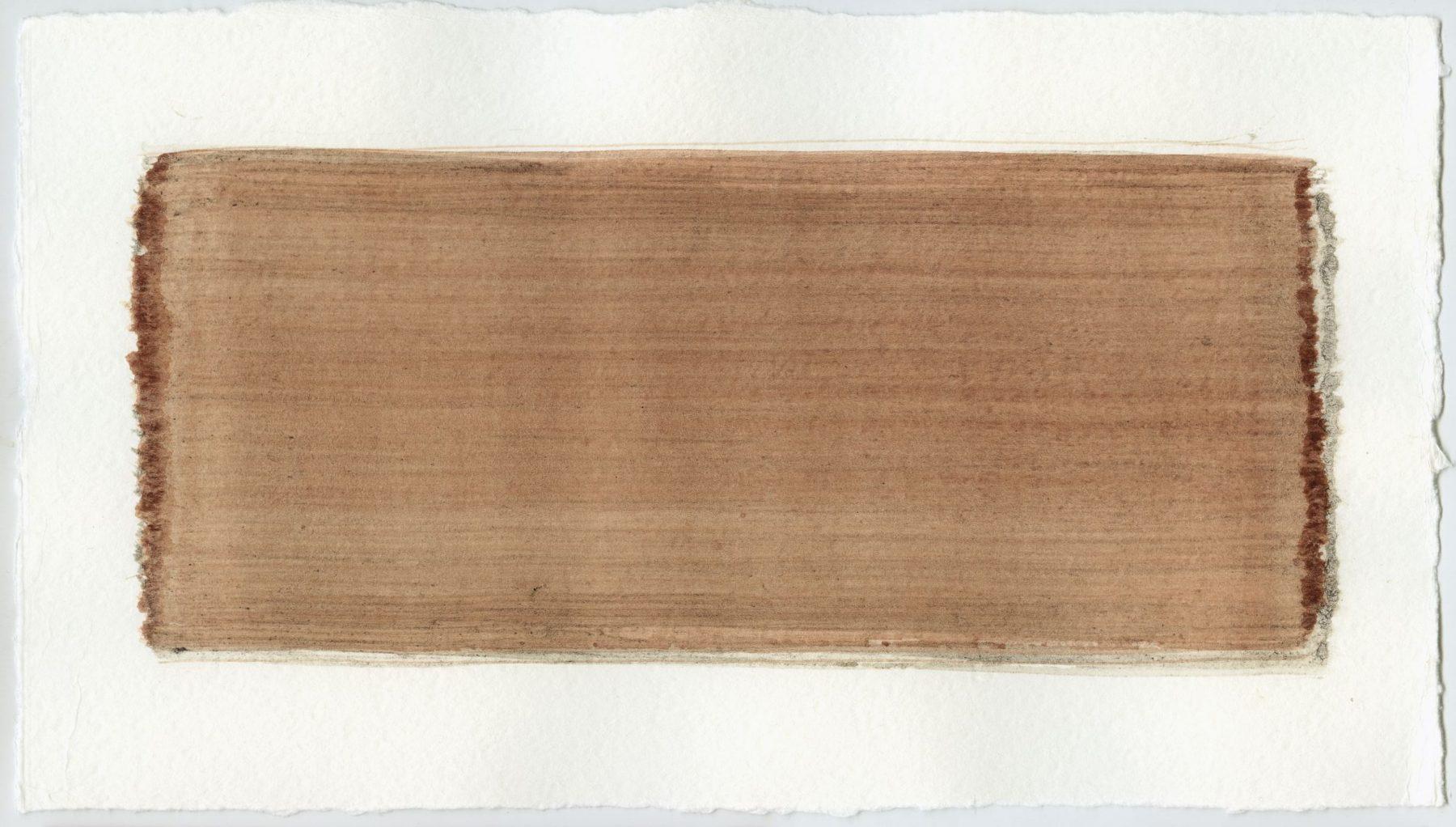 Brush stroke no. 104 - Selfmade pigment: Mortelse oker gebrand, Slingerpad bruin