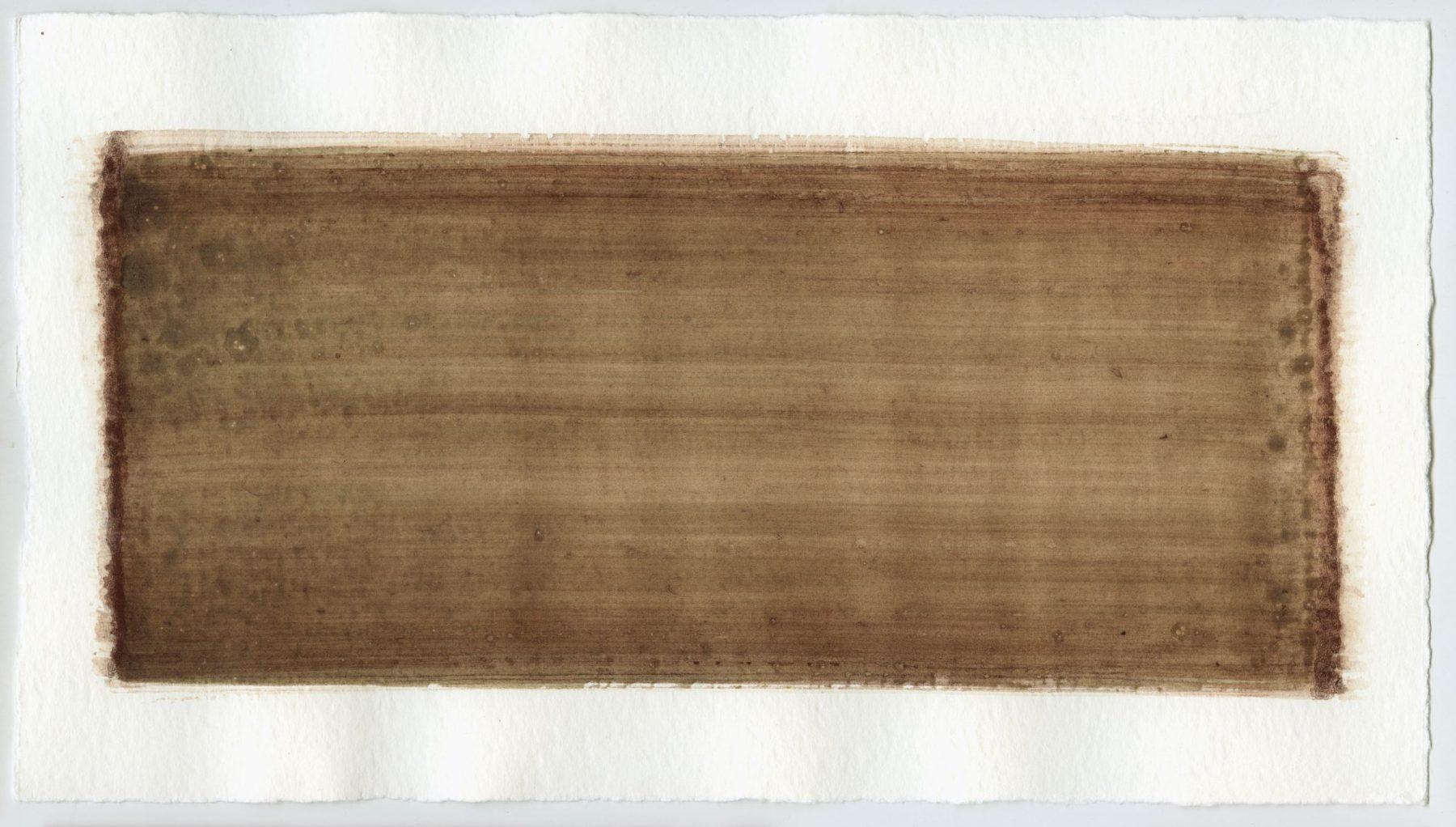 Brush stroke no. 105 - Selfmade pigment: IJzeroer gebrand, Boekels grijs