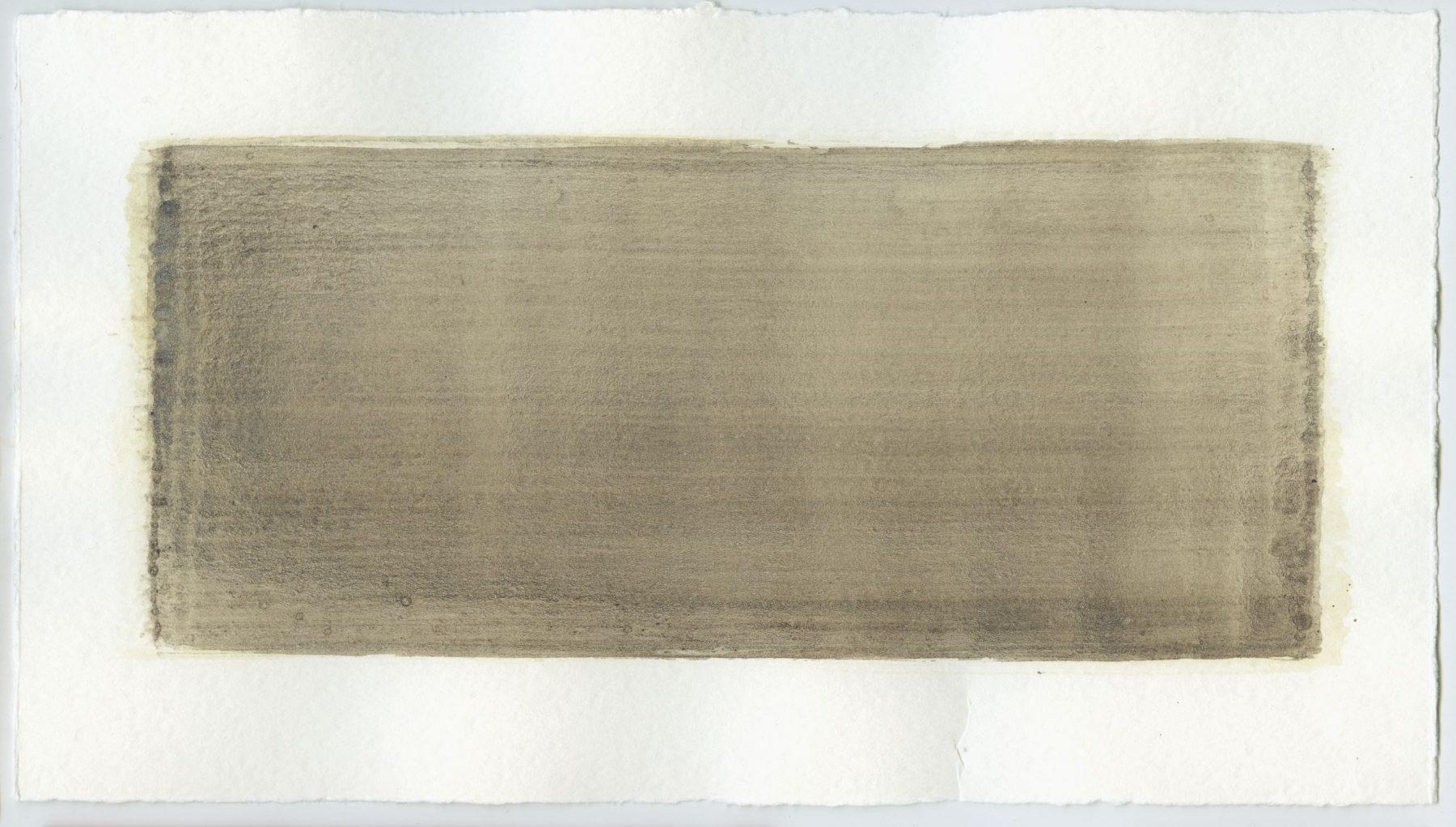 Brush stroke no. 107 - Selfmade pigment: Slingerpad bruin, Slabroek grijs