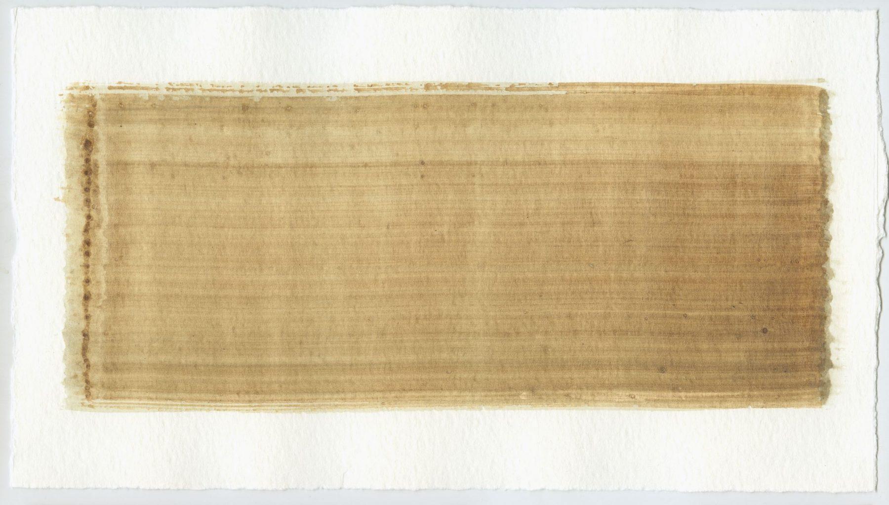 Brush stroke no. 108 - SOLD - Selfmade pigment: IJzeroer, Perekker grijs
