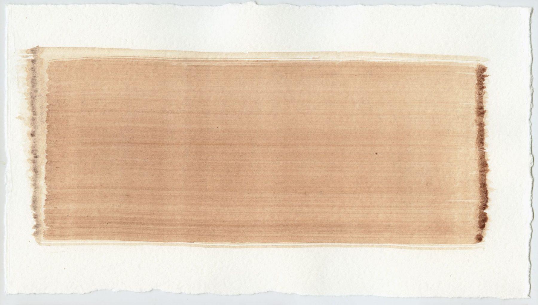 Brush stroke no. 113 - Selfmade pigment: Mortelse oker gebrand, IJzeroer gebrand