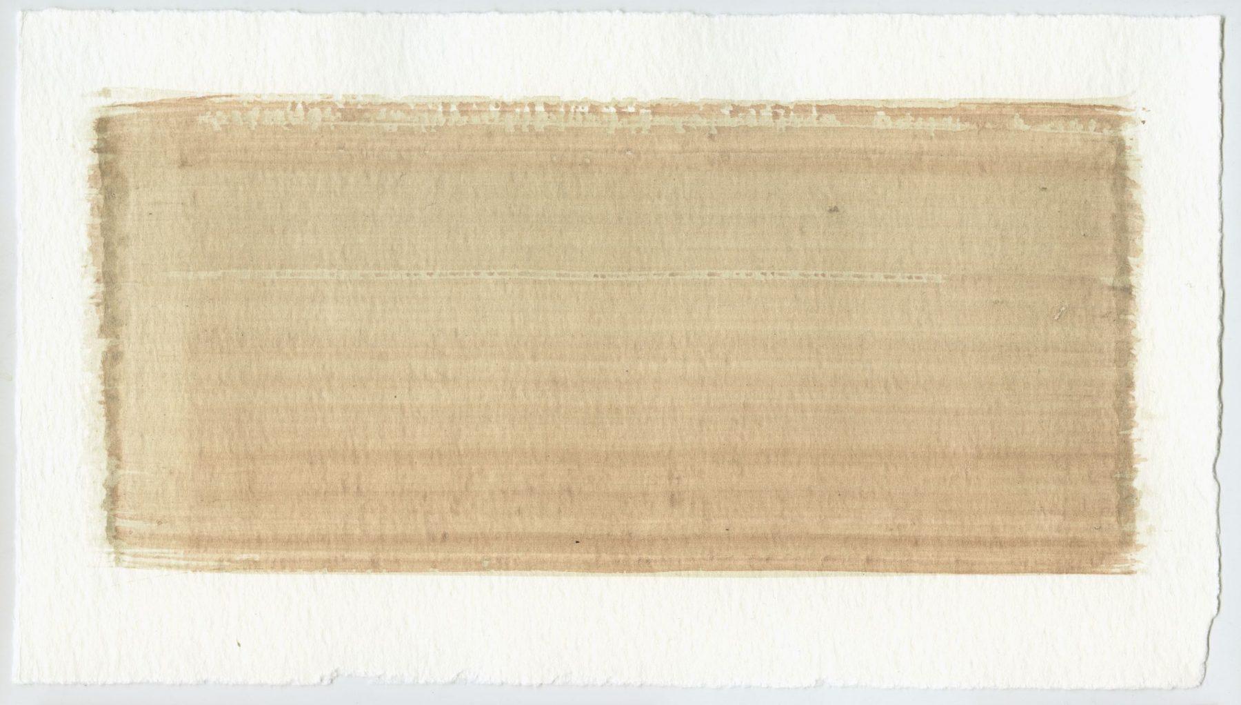 Brush stroke no. 114 - Selfmade pigment: Mortelse oker gebrand, Perekker grijs