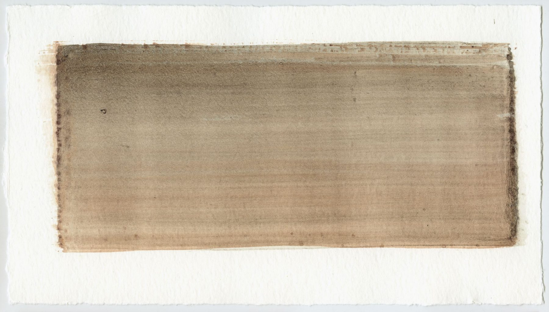 Brush stroke no. 115 - Selfmade pigment: IJzeroer gebrand, Slingerpad bruin