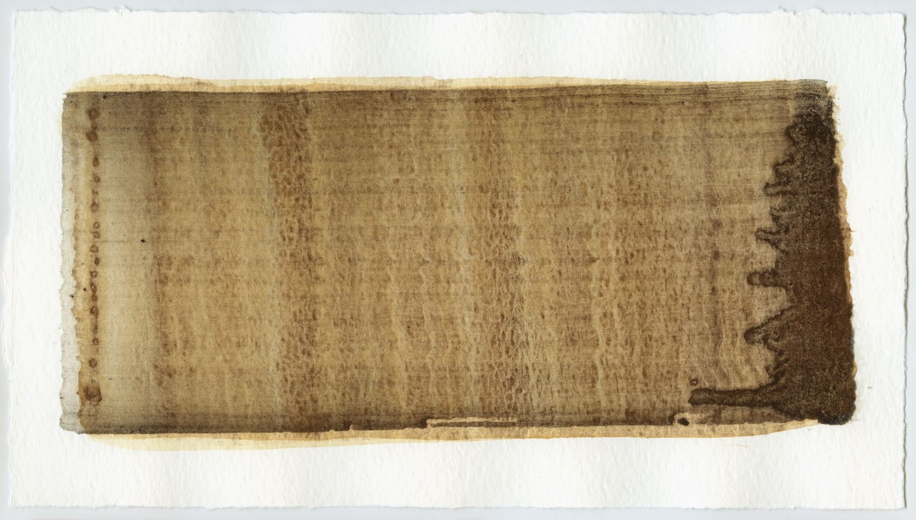 Brush stroke no. 116 - Selfmade pigment: Slingerpad bruin, IJzeroer