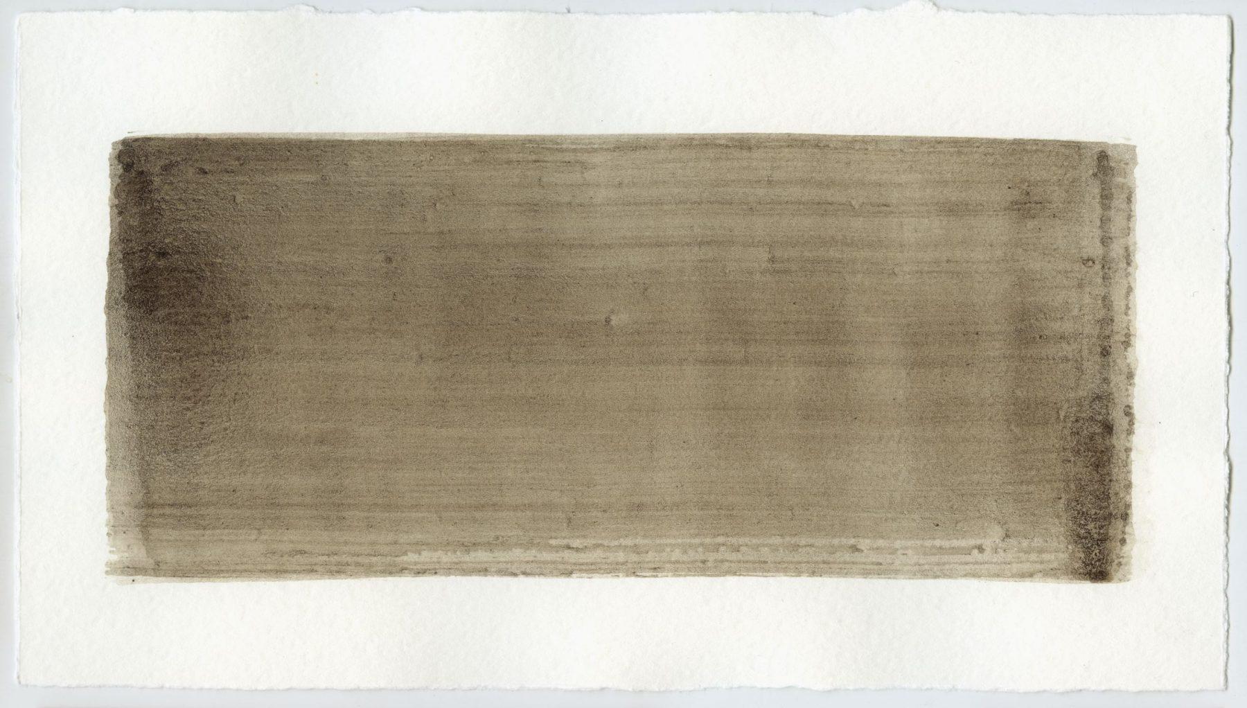 Brush stroke no. 119 - Selfmade pigment: Slingerpad bruin
