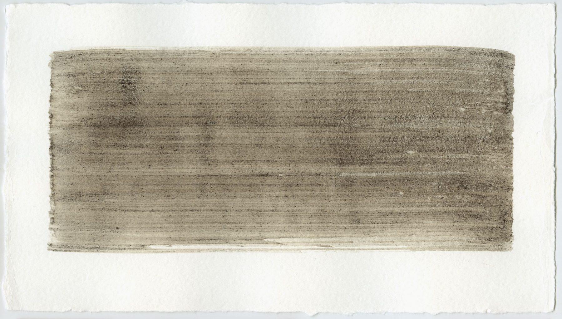 Brush stroke no. 121 - Selfmade pigment: Slingerpad bruin