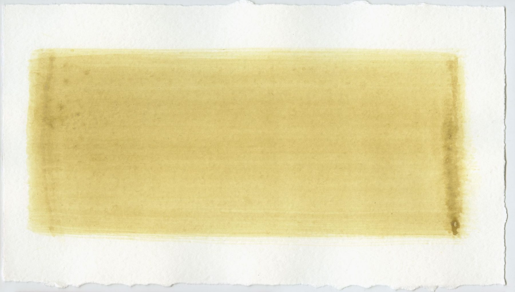 Brush stroke no. 122 - Selfmade pigment: Mortelse oker