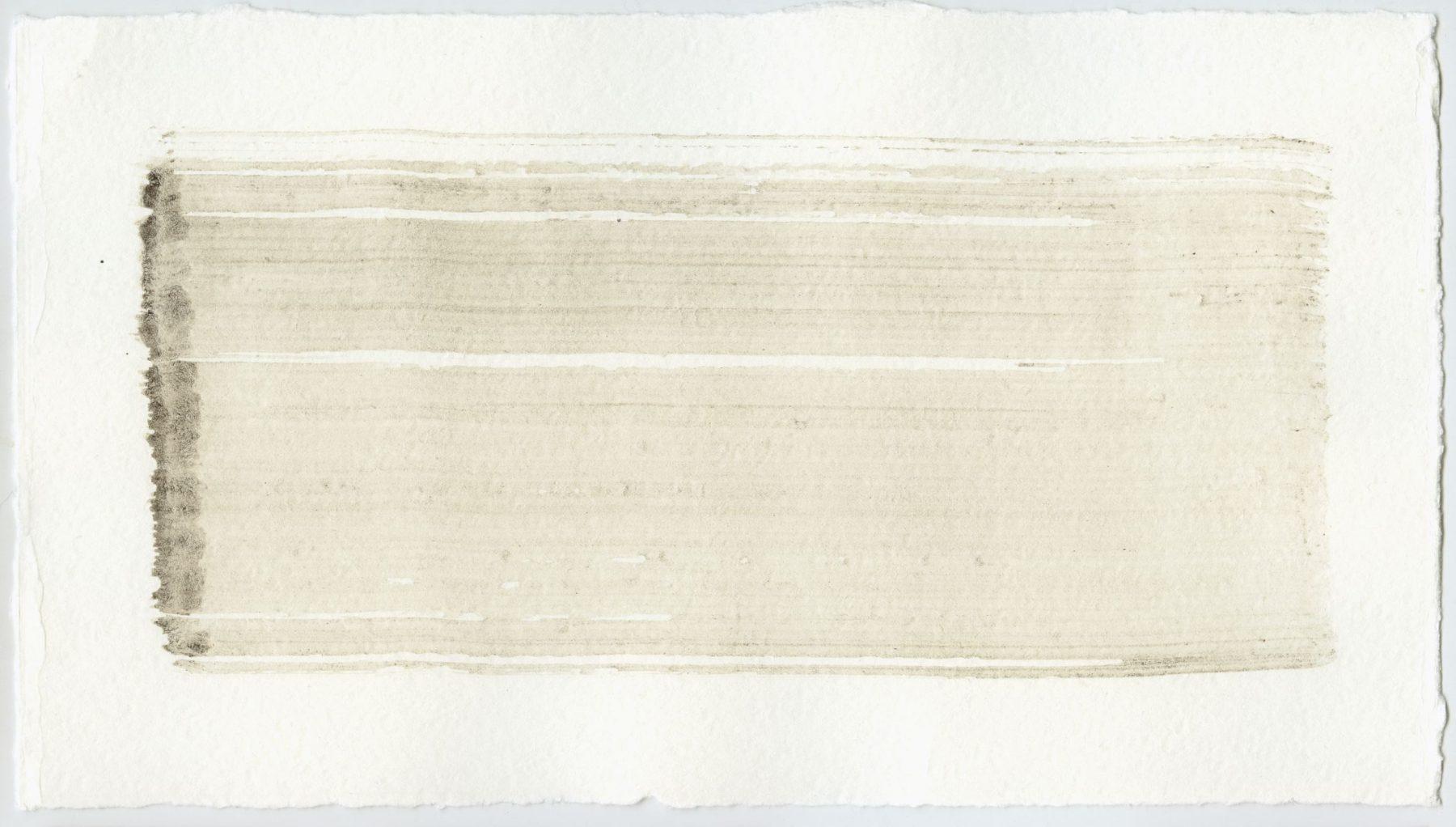 Brush stroke no. 124 - Selfmade pigment: Slingerpad bruin
