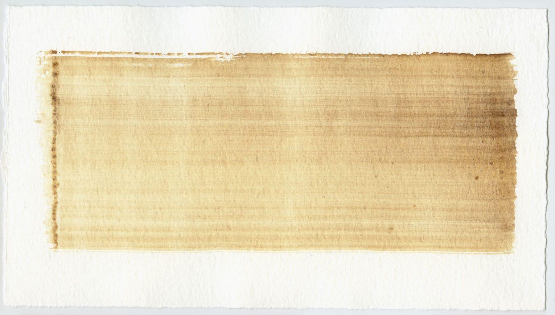 Brush stroke no. 125 - Selfmade pigment: IJzeroer